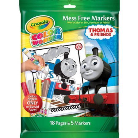 Crayola Color Wonder Thomas the Train and Friends Coloring Pages and Mess Free Markers - Crayola Color Wonder Markers