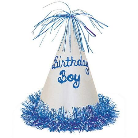 Glitter Fringe Birthday Boy Party Hat