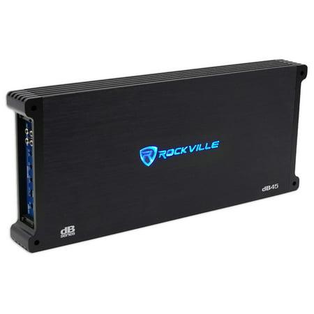 Rockville dB45 3200 Watt/1600w RMS 4 Channel Amplifier Car Stereo Amp,