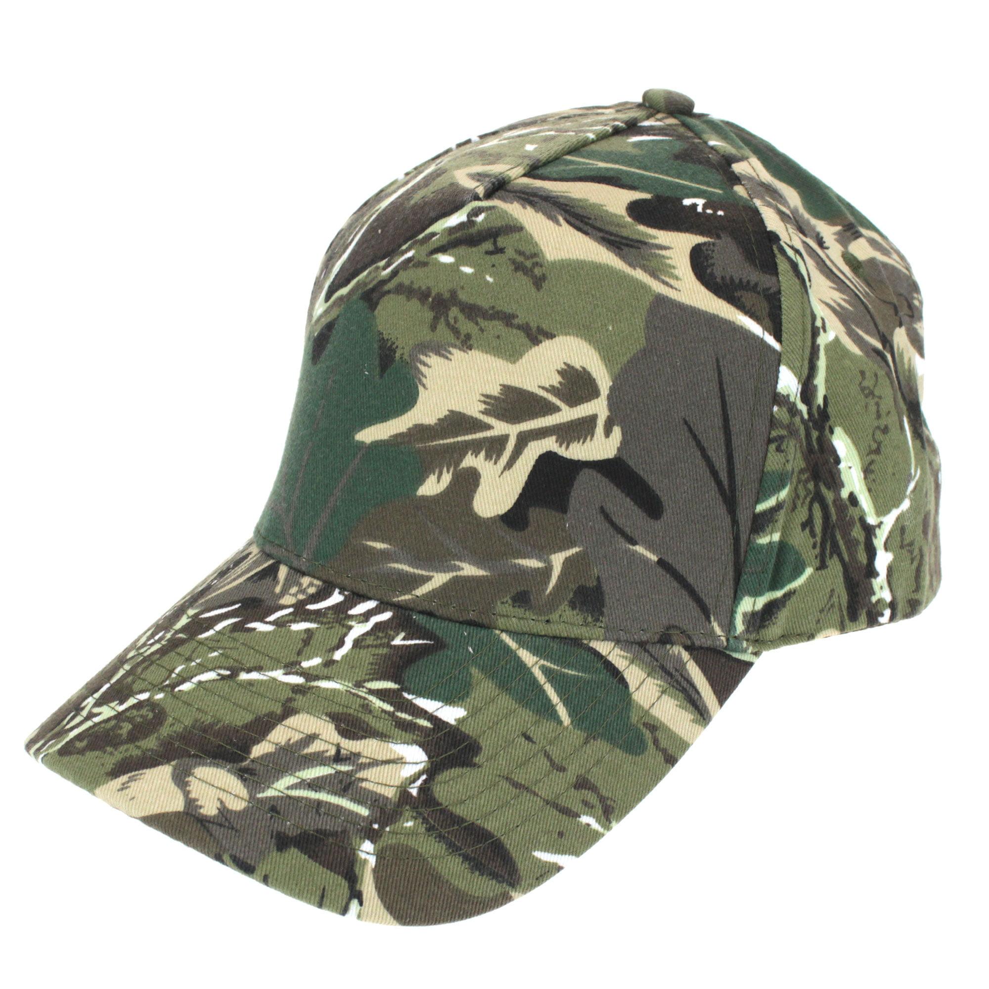 Mens Low Crown 5 Panel Camouflage Twill Baseball Cap Olive Foliage Camo -  Walmart.com 7d2383efd26
