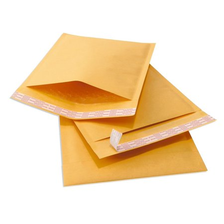 Sales4Less #000 4X8 Kraft Bubble Mailers Padded Shipping Envelopes Self Seal Pack of 25