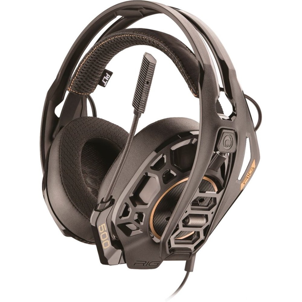 Plantronics RIG 500 PRO HX Dolby Atmos Over-Ear Gaming Headset with Comfort Earcups and Noise-Isolation for Xbox One (New Open Box)