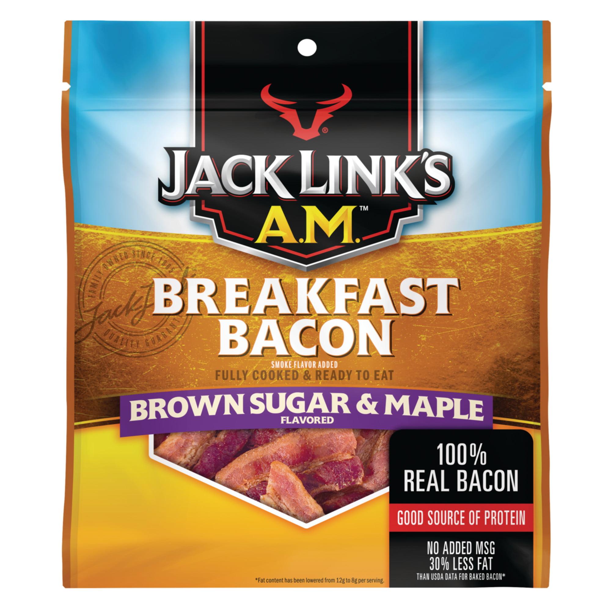 Jack Links AM Breakfast Bacon, Brown Sugar & Maple, 2.5oz