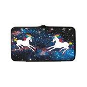 Size one size Women's Unicorn Universe Hinged Card Case Wallet