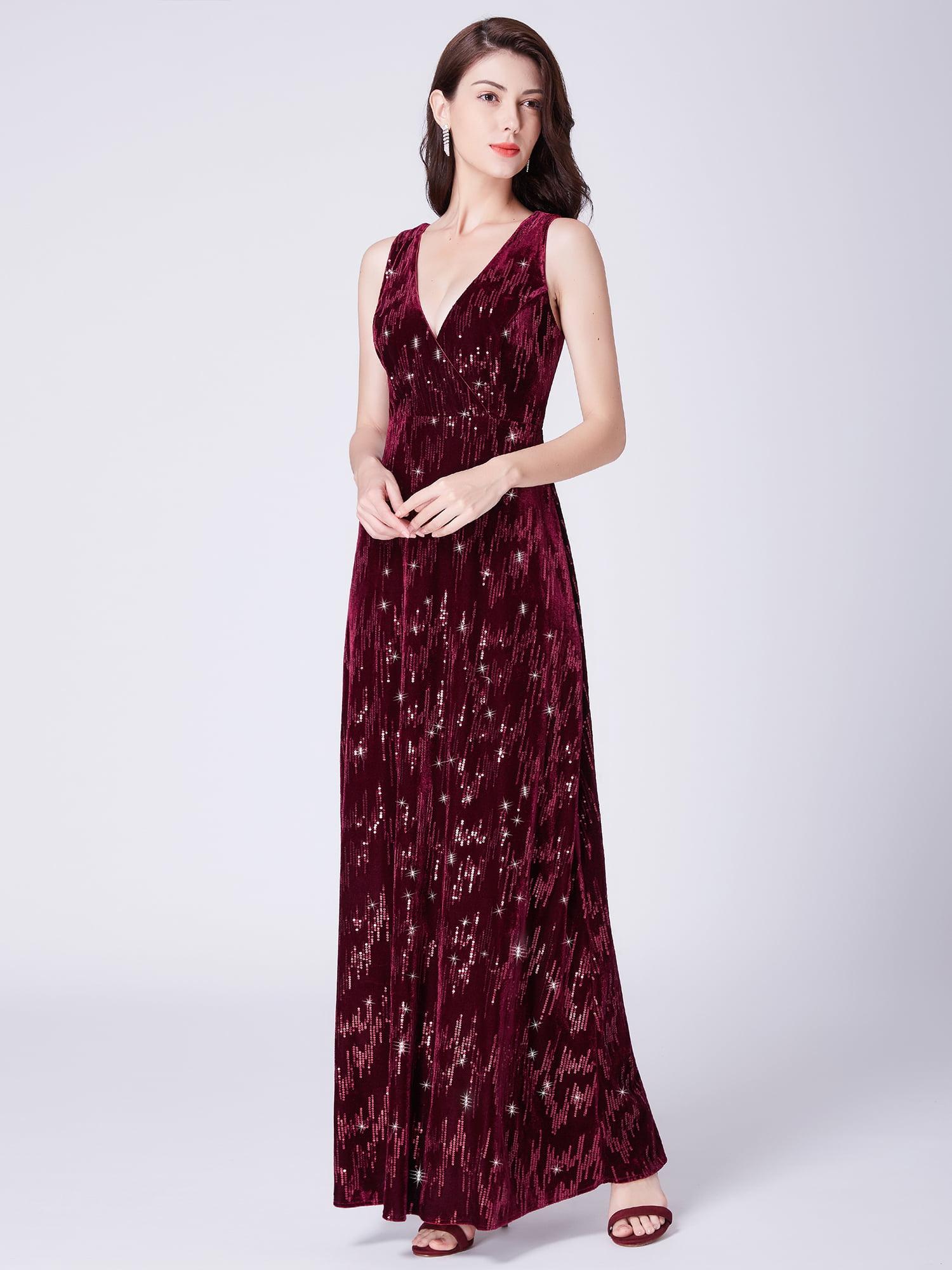 a352a54a1201 Ever-pretty - Ever-Pretty Women's Classical Velvet Christmas Party Long  Formal Evening Ball Gowns for Women 07506 US 12 - Walmart.com