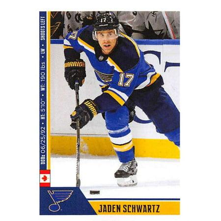 2018-19 Panini NHL Stickers #456 Jaden Schwartz St. Louis Blues Hockey Card ()