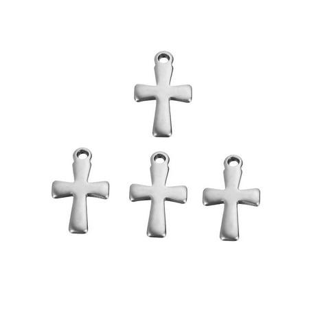 - 20pcs Stainless Steel Cross Charm Pendant Jewelry Findings Supliles 12x7mm