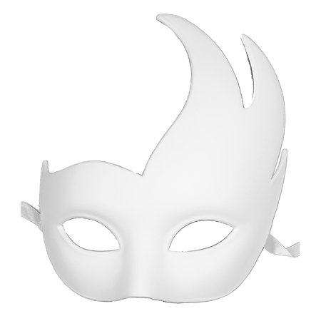 PLAIN WHITE VENETIAN MASK - Masquerade Ball - FANCY - White Masquerade Masks For Men