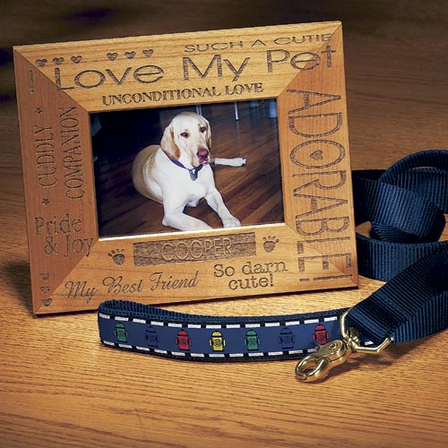 Personalized I Love My Pet Wooden Frame