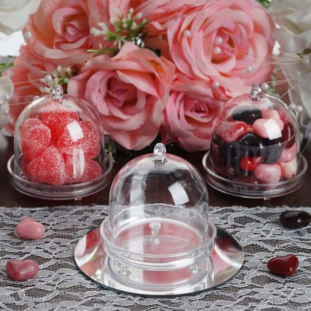 12 PCS Wholesale Mini Clear Plastic Cupcake Muffin Cake Container With Dome