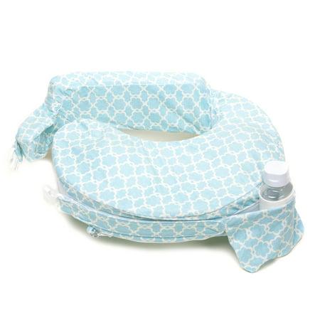 My Brest Friend Nursing Pillow Deluxe Slipcover (pillow not included), Flower Key (Sky Blue, White) Brest Friend Deluxe Slipcover