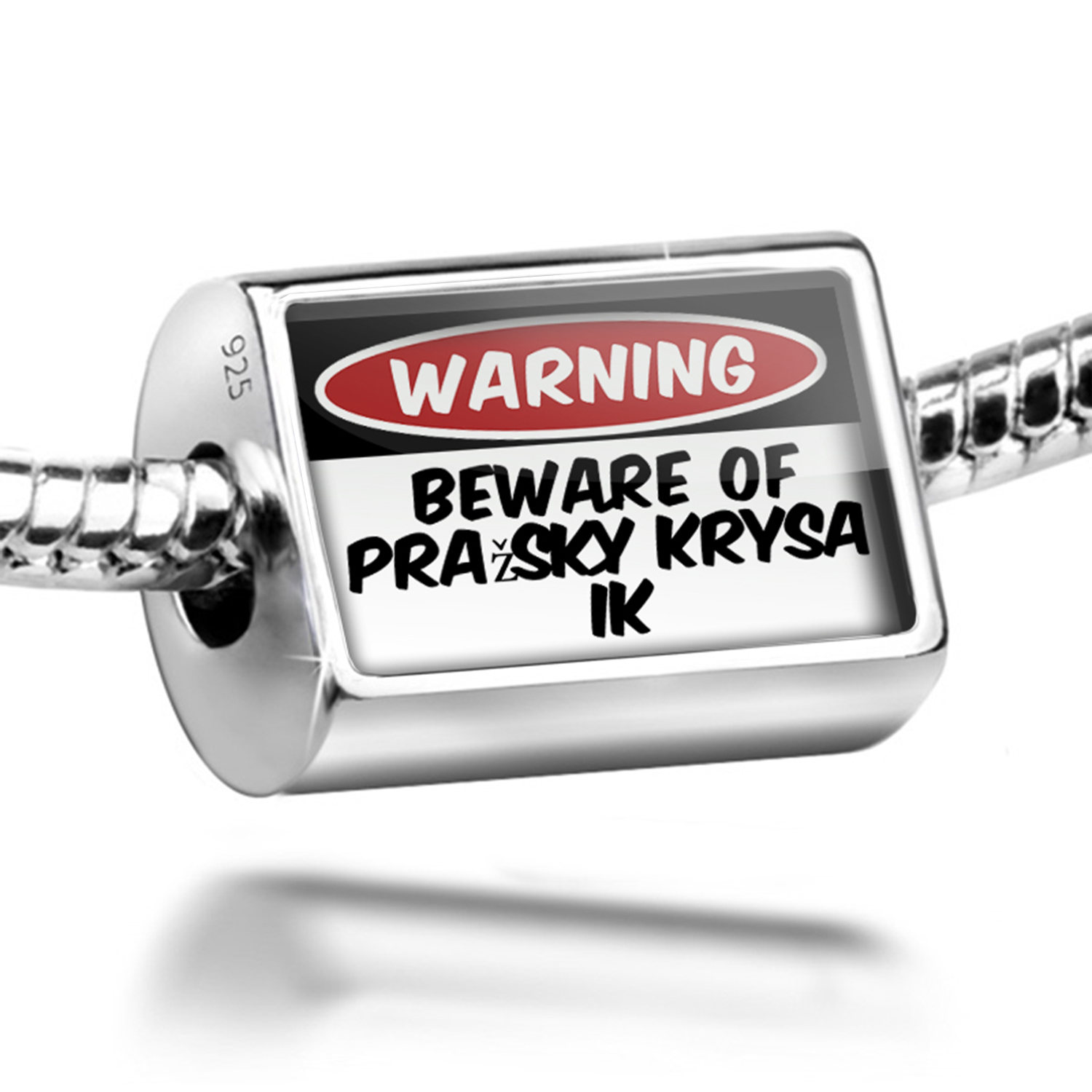 Bead Beware of the Pražský Krysařík Dog from Czech Republic Charm Fits All European Bracelets