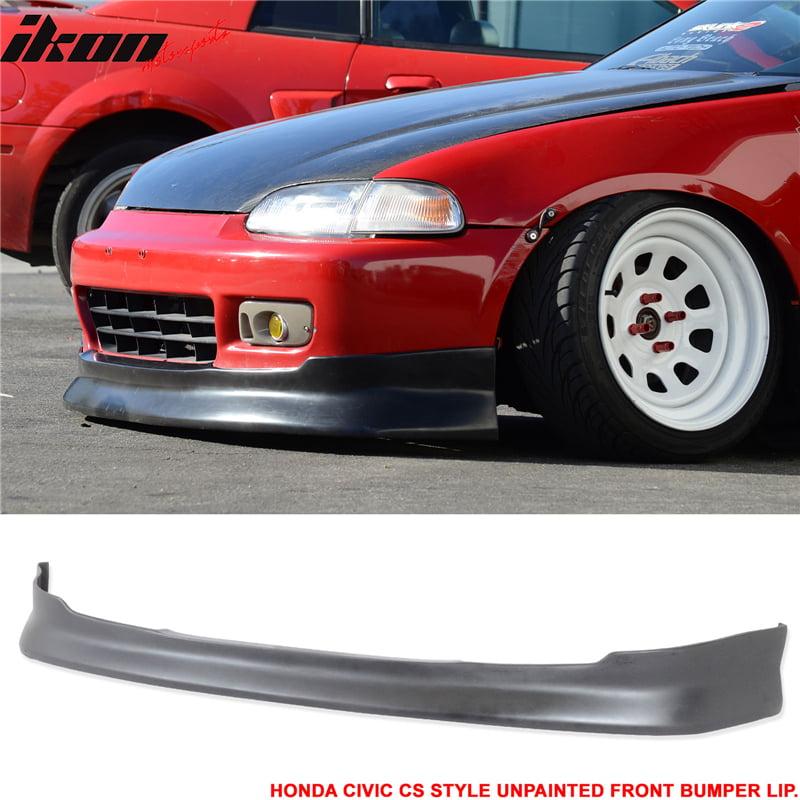 Fits 92-95 Honda Civic 2Door 3Door CS Type Front Bumper Lip Unpainted PU Black