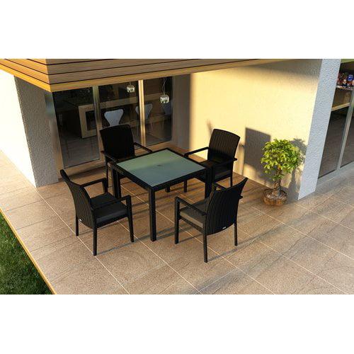 Orren Ellis Azariah 5 Piece Sunbrella Dining Set with Cushions