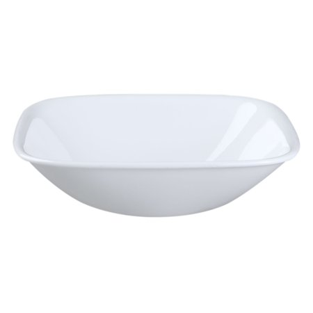 10 Ounce Dessert Bowl (Corelle 1075554 Square White 10 Oz. Bowl )