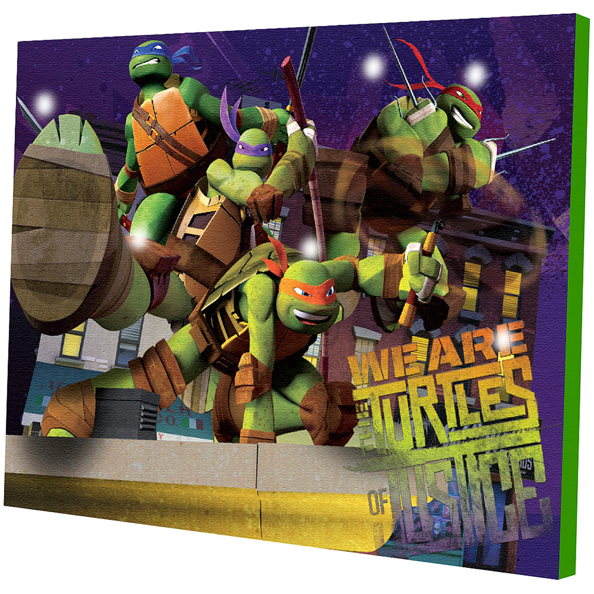 Ninja Turtle Wall Decor nickelodeon teenage mutant ninja turtles light up canvas wall art