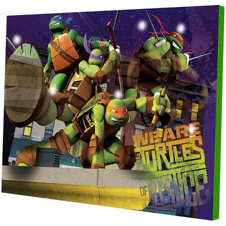 Nickelodeon Teenage Mutant Ninja Turtles Light Up Canvas Wall Art with BONUS