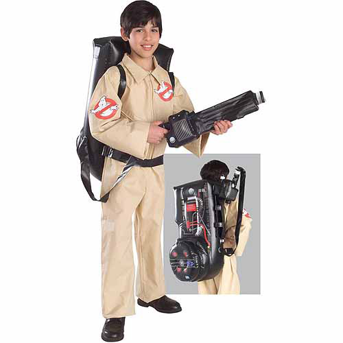 Rubies Costume Ghostbuster Deluxe Childrens Costume with Blow Up Proton Pack Small