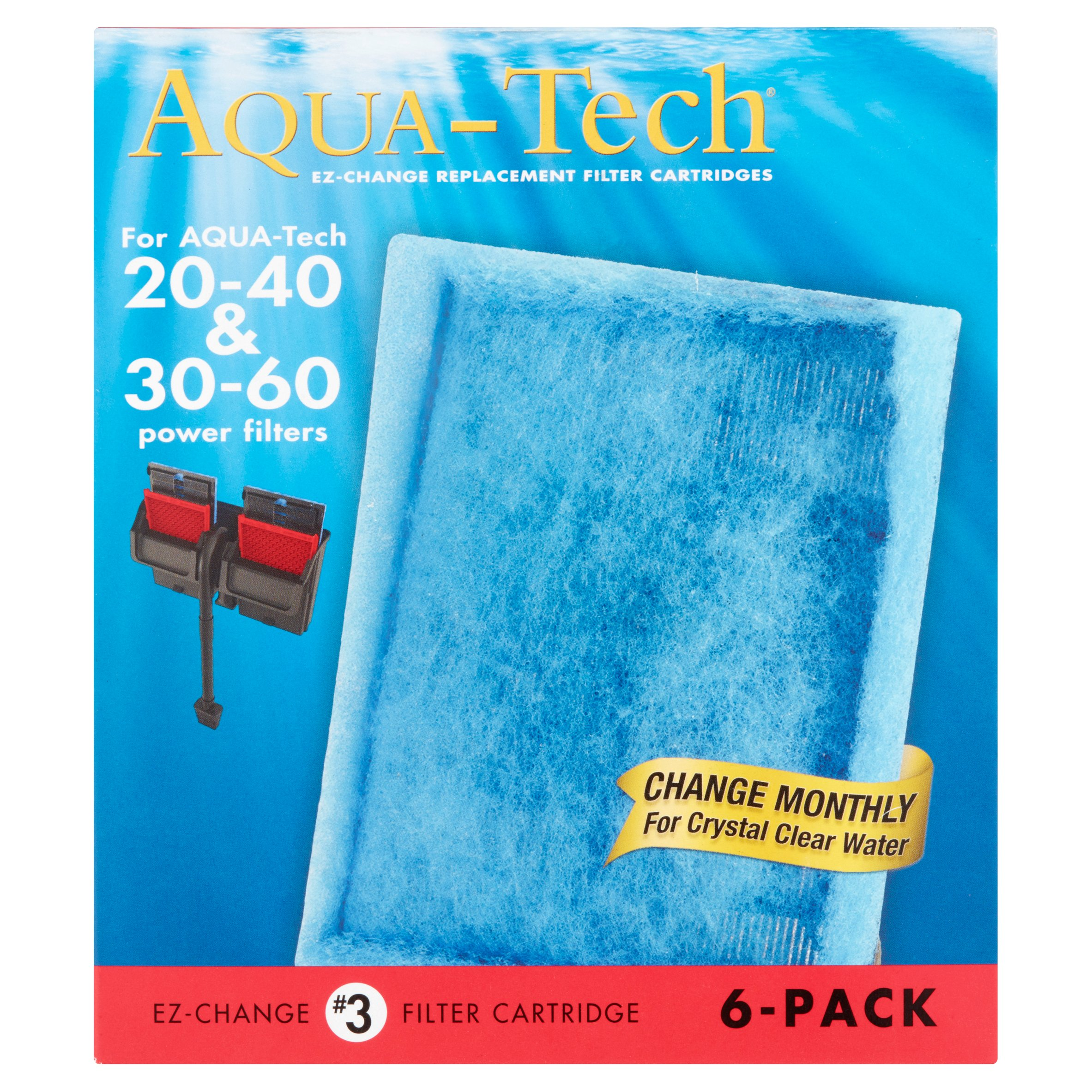 Aqua-Tech EZ-Change Replacement #3 Aquarium Filter Cartridge, 6 pack