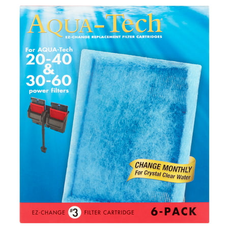 Aqua-Tech EZ-Change Replacement #3 Aquarium Filter Cartridge, 6