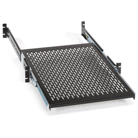 - Rackmount Sliding Vented 4-Point Shelf, 19 in. Rails