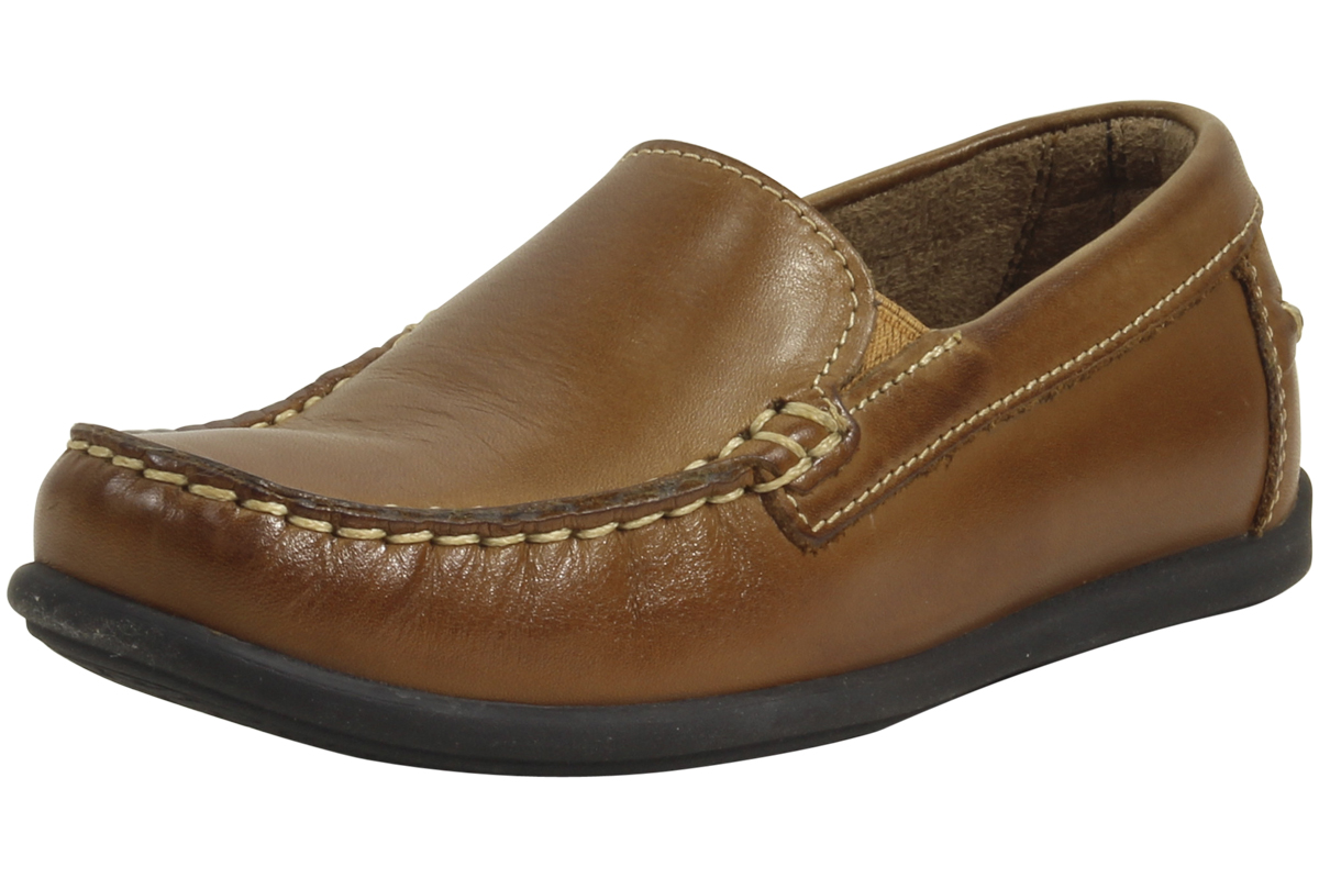 Florsheim Kids Little Big Boy's Jasper Venetian Saddle Tan Loafers Shoes by Florsheim