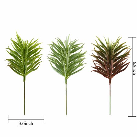 BalsaCircle 3 pcs 7-Inch Assorted Artificial Faux Succulent Picks Sprays Wedding Tabletop Arrangement Centerpieces Decorations](Wedding Succulents)