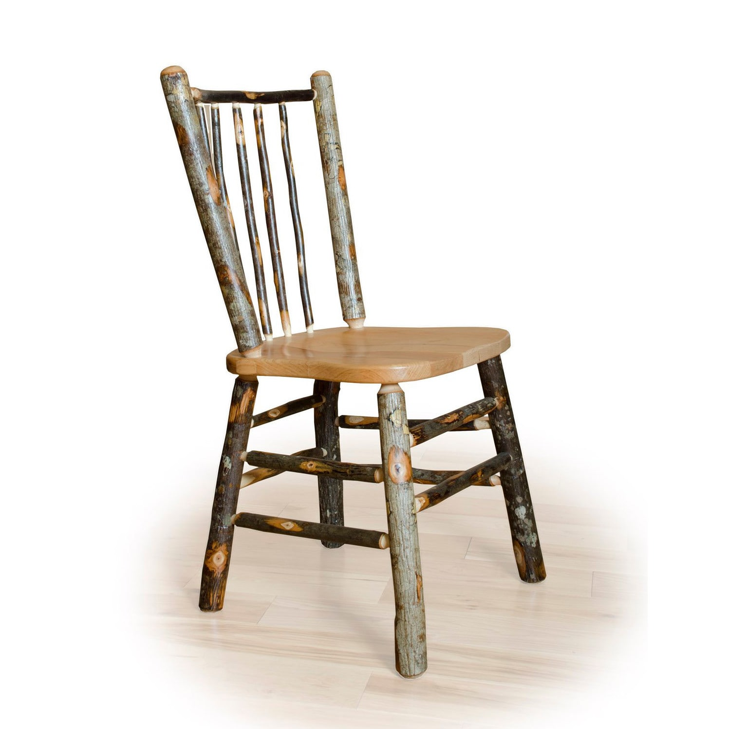 Kunkle Holdings LLC *SET OF 2* Rustic Hickory Stick Back Dining Side Chairs