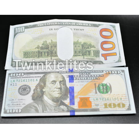 x12 100 Dollar Bill Wallets Money Bi-Fold Card Holder Mens Benjamin Novelty Gift