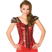 Red Flirty Top Adult Halloween Dress Up / Role Play Costume