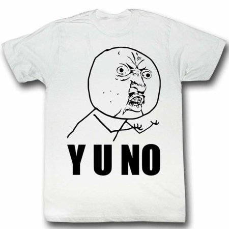 Halloween Hoes Meme (Y U No Guy Meme Trending #Yuno Y U No Stick Figure Guy Adult T-Shirt)