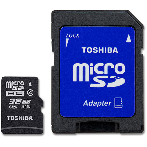 Toshiba Class 4 32GB MicroSD Card with STD Adapter
