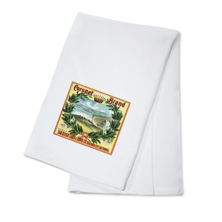 Coronet Brand - San Diego, California - Citrus Crate Label (100% Cotton Kitchen Towel) ()