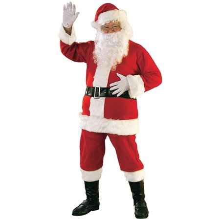 Morris Costumes RU23311XL Santa Suit Flannel Costume, Extra Large 50-56