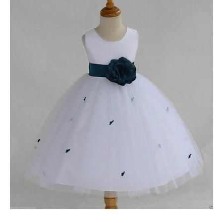 White flower girl dresses size 2t football