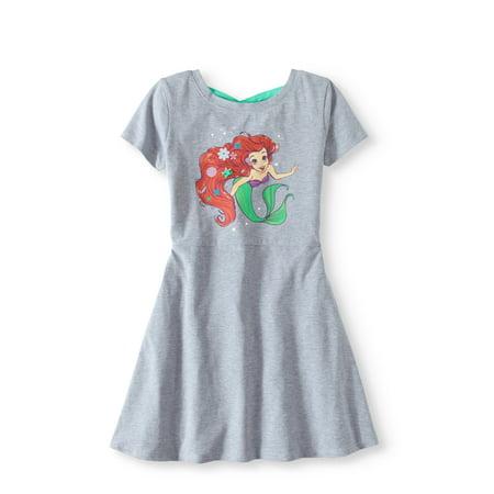 Little Girls' 4-6X Cross Back Knit Dress