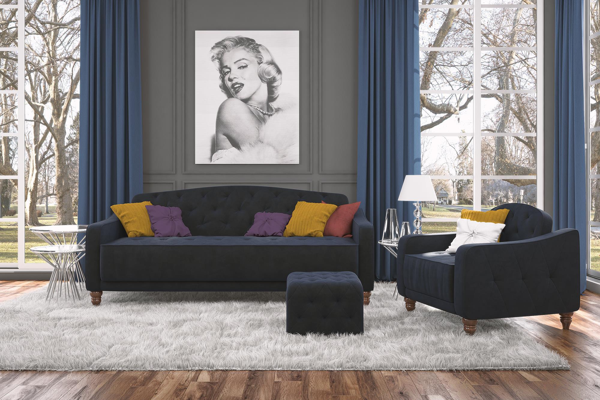 Fantastic Square Ottoman Novogratz Vintage Tufted Upholstery Design Pabps2019 Chair Design Images Pabps2019Com