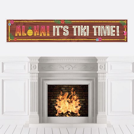 Tiki Luau - Tropical Hawaiian Summer Party Decorations Party Banner