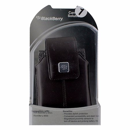 BlackBerry Leather Pouch with Clip for BlackBerry Storm 9500 / 9530 - Dark