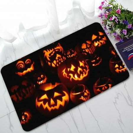 Halloween Doormat Outdoor Decor (ZKGK Happy Halloween Non-Slip Doormat Indoor/Outdoor/Bathroom Doormat 30 x 18)