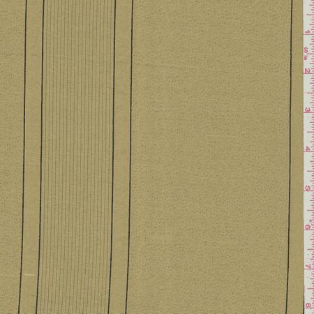 Metallic Gold Stripe Silk Drapery Fabric By The Yard