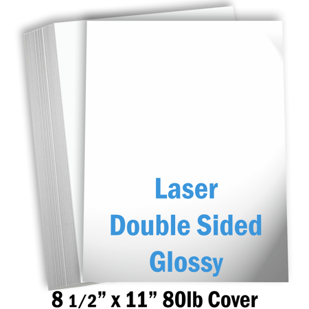 Hamilco White Glossy Cardstock Paper - 8 1/2 x 11