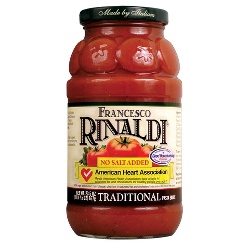 Francesco Rinaldi Traditional No Salt Added Pasta Sauce, 24 oz