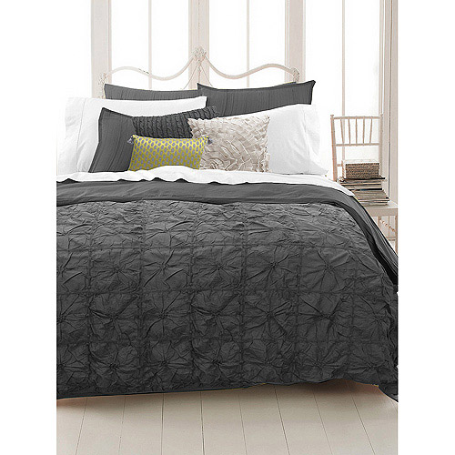 East End Living Knotted Squares Bedding Duvet Set, Grey