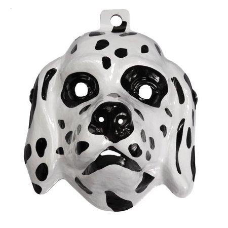 Plastic Dalmatian Dalmation Dog Animal Halloween Face Unsiex Costume Accessory