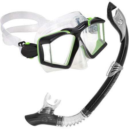 Side View Paradise LX Snorkel Set, Black