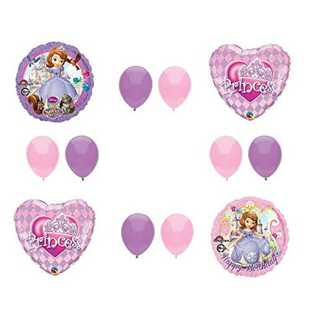 Princess Sofia Birthday (Disney's SOFIA THE FIRST PRINCESS Happy Birthday PARTY Balloons Decorations Supplies by)