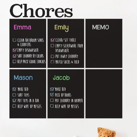 Shapes Chart (Simple Shapes Chores Chart Chalkboard Wall)