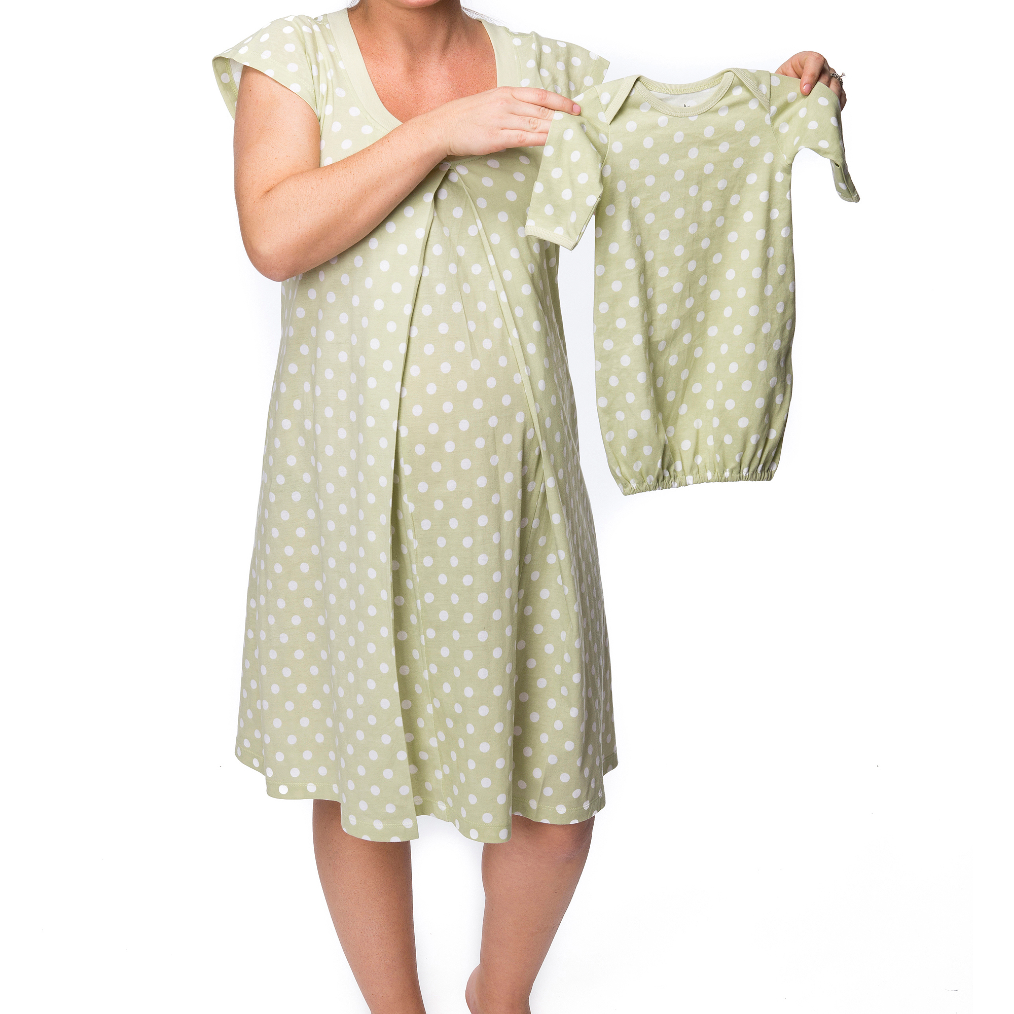 Baby Be Mine Maternity Nursing Nightgown with Romper - Walmart.com