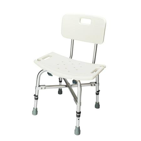 Zimtown Adjustable Bath Chair Heavy-duty Medical Shower Chair Bathtub Bench Stool Seat & Backrest -